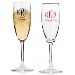 Intertwined Monogram Personalized Champagne Flutes image