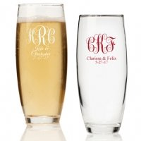 Intertwined Monogram Personalized Stemless Champagne Glass