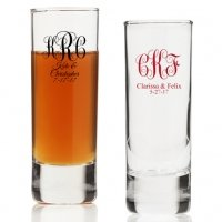 Intertwined Monogram Personalized Tall Shot Glass