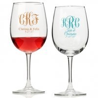 Intertwined Monogram Personalized Wine Glass