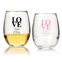 Love Personalized 15 oz Stemless Wine Glass