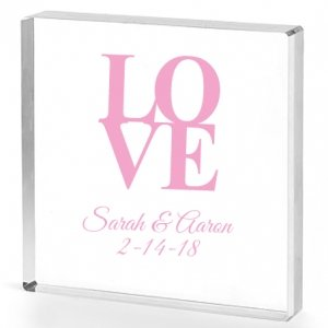 Love Personalized Acrylic Cake Topper image