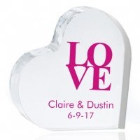 Love Personalized Heart Cake Topper