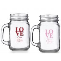 Love Personalized Mason Glasses