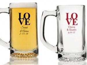 Love Personalized Beer Mugs image