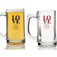 Love Personalized Beer Mugs