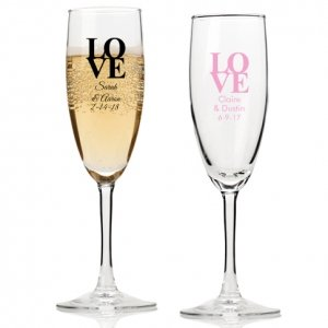 Love Personalized Champagne Flutes image