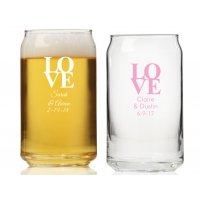 Love Personalized Can Glass