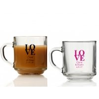 Love Personalized Glass Coffee Mugs