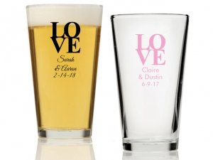 Love Personalized 16 oz Pint Glass image