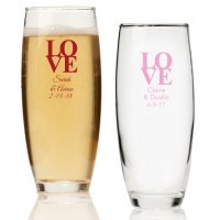 Love Personalized Stemless Champagne Glass