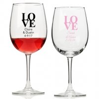 Love Personalized Wine Glass