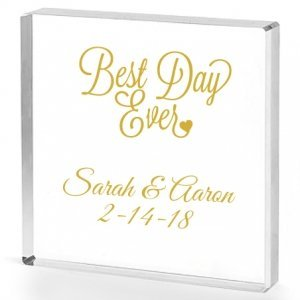 Best Day Ever Personalized Acrylic Cake Topper image