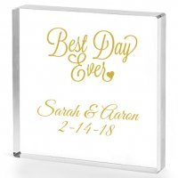 Best Day Ever Personalized Acrylic Cake Topper
