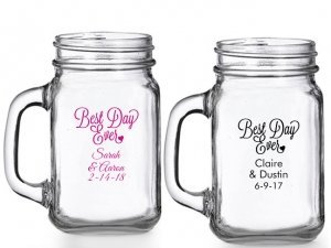 Best Day Ever Personalized Mason Glasses image