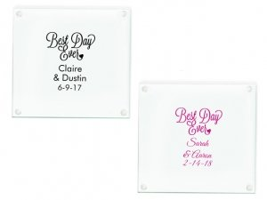 Best Day Ever Personalized Glass Coasters Favors image