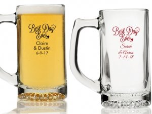 Best Day Ever Personalized Beer Mugs image
