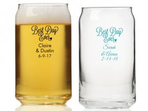 Best Day Ever Personalized Can Glass image