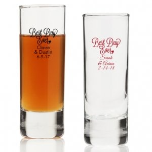 Best Day Ever Personalized Tall Shot Glass image
