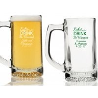 Eat Drink Be Married Personalized Beer Mugs