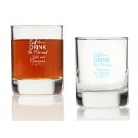 Eat Drink Be Married Personalized Votives or Shot Glass
