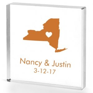 State Love Personalized Acrylic Cake Topper image