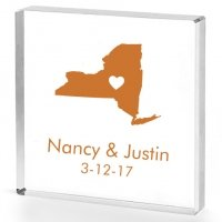 State Love Personalized Acrylic Cake Topper