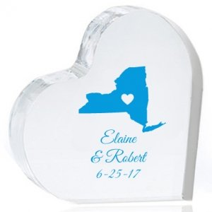 State Love Personalized Heart Cake Topper image