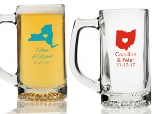 State Love Personalized Beer Mugs image