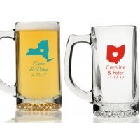 State Love Personalized Beer Mugs