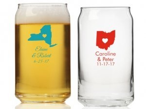State Love Personalized Can Glass image