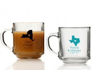 State Love Personalized Glass Coffee Mugs image