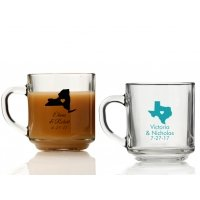 State Love Personalized Glass Coffee Mugs