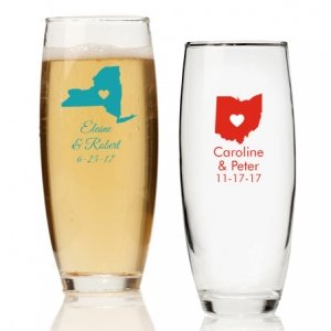 State Love Personalized Stemless Champagne Glass image