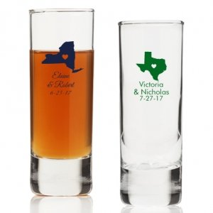 State Love Personalized Tall Shot Glass image