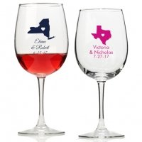 State Love Personalized Wine Glass