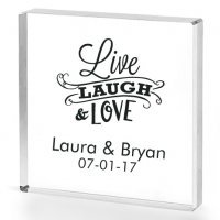 Live Laugh and Love Personalized Acrylic Cake Topper