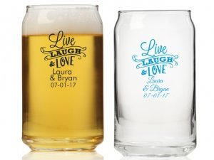 Live Laugh and Love Personalized Can Glass image