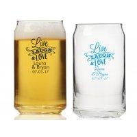 Live Laugh and Love Personalized Can Glass