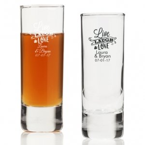 Live Laugh and Love Personalized Tall Shot Glass image