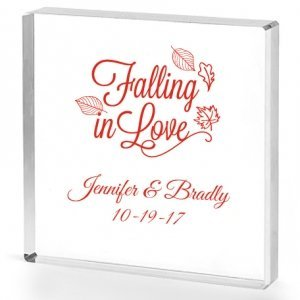 Falling in Love Personalized Acrylic Cake Topper image