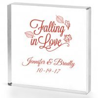 Falling in Love Personalized Acrylic Cake Topper