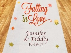 Falling In Love Personalized Wedding Aisle Runner image