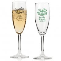 Falling in Love Personalized Champagne Flutes