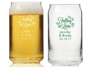 Falling in Love Personalized Can Glass image