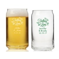 Falling in Love Personalized Can Glass