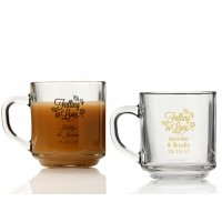 Falling in Love Personalized Glass Coffee Mugs