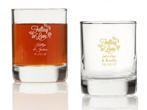 Falling in Love Personalized Votives or Shot Glass image