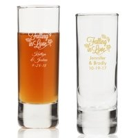 Falling in Love Personalized Tall Shot Glass