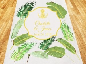 Palm Beach Glam Personalized Aisle Runner image